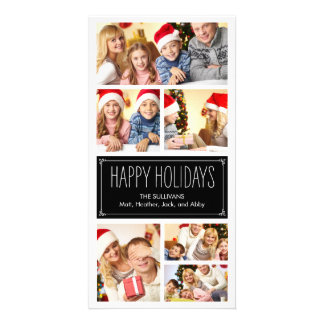Simple Collage Holiday Photo Cards Picture Card