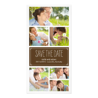 Simple Collage Save The Date Photo Cards