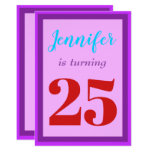 [ Thumbnail: Simple, Colorful Birthday Party Invitation ]