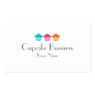 Simple colorful cupcakes bakery business cards