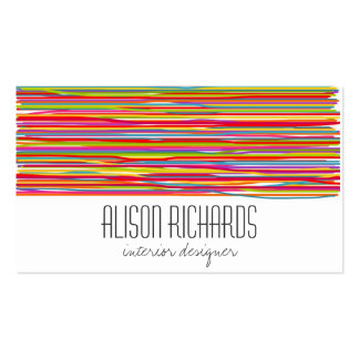 Simple Colorful rainbow stripes interior design Double-Sided Standard Business Cards (Pack Of 100)