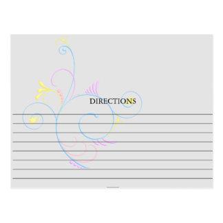 Simple Colorful Swirly Swirl Recipe Cards