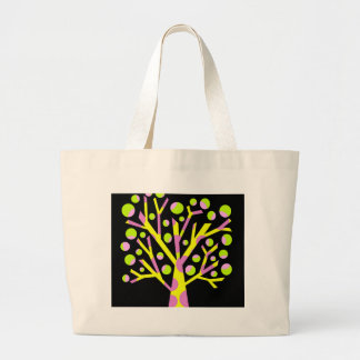 Simple colorful tree large tote bag