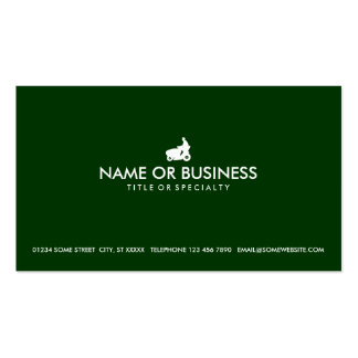 simple commercial lawn care Double-Sided standard business cards (Pack of 100)