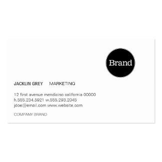Simple con el logotipo (gris pizarra) tarjetas de visita