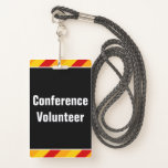 """[ Thumbnail: Simple """"Conference Volunteer"""" Badge ]"""