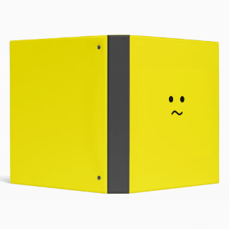 Simple Confused Meh Yellow Face Binder