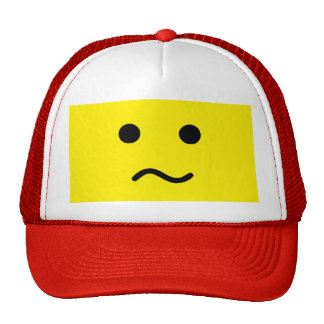 Simple Confused Meh Yellow Face Trucker Hat