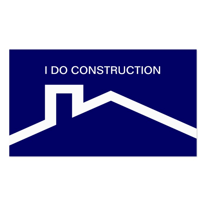 Simple construction business cards zazzle for Business cards roofing design