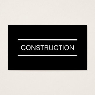 Simple Construction Business Cards