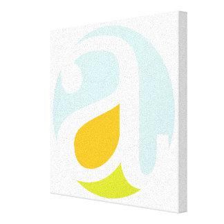 Simple, Contemporary Big Letter A Canvas