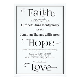 Simple Contemporary Christian Wedding Invitations