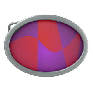 Simple Contrast Abstract Composition Oval Belt Buckles