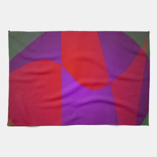 Simple Contrast Abstract Composition Hand Towel