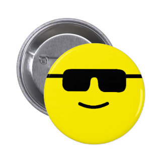 Simple Cool Shades Yellow Face Pinback Button