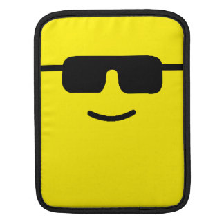 Simple Cool Shades Yellow Face Sleeve For iPads