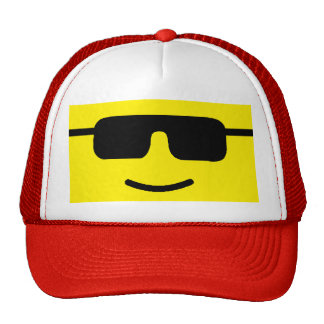 Simple Cool Shades Yellow Face Trucker Hat