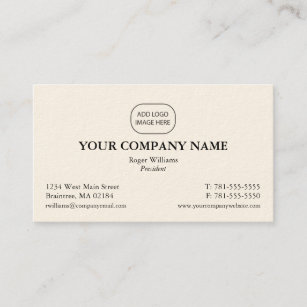 Add your logo business cards templates zazzle simple corporate business card add your logo reheart Gallery