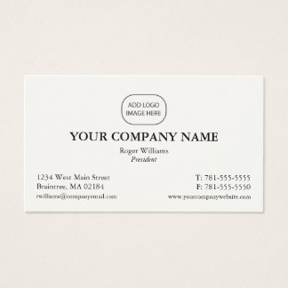 Simple Corporate Business Card - Add Your Logo