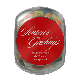 Simple Corporate Christmas Giveaway Glass Candy Jar