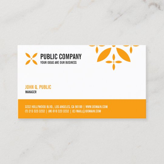 Simple corporate one sided business card zazzle simple corporate one sided business card colourmoves