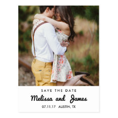 Simple Country Save The Date Announcement Postcard at Zazzle