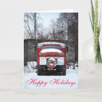 Simple Country Truck Snow Christmas greeting cards
