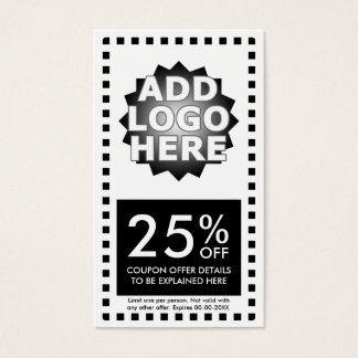 simple coupon business card