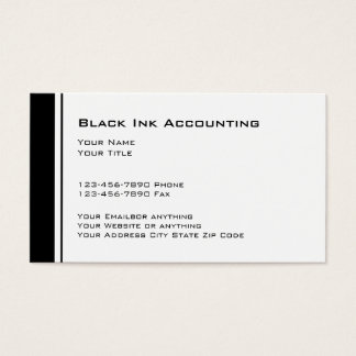Simple CPA Accountant Business Cards