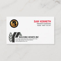 Simple Creative Elegant Abstract Home Construction Business Card