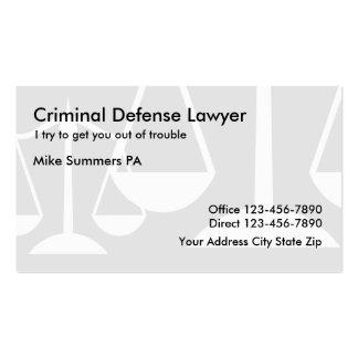 Simple Criminal Defense Lawyer Business Card