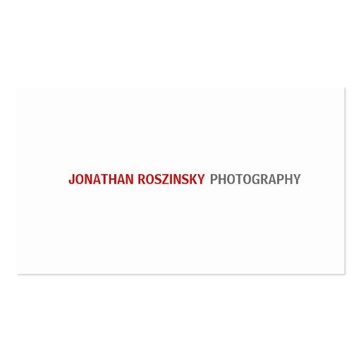 Simple Crimson Text Business Card