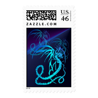 Simple Critters-Electric Dragon Postage Stamps