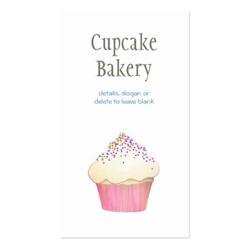 Simple Cupcake Bakery 3 Business Card