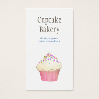 Simple Cupcake Bakery Pastry Chef Catering Business Card