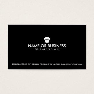 simple cupcake business card