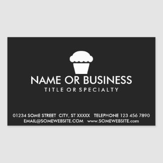 simple cupcake business card sticker