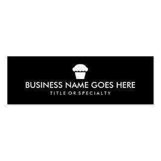 simple cupcake color customizable business card templates