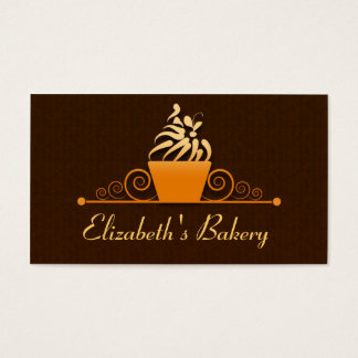 simple cupcake modern business card