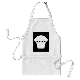 simple cupcake / muffin adult apron