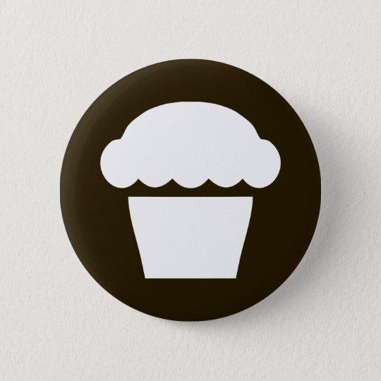 simple cupcake / muffin pinback button