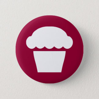 simple cupcake / muffin pinback button