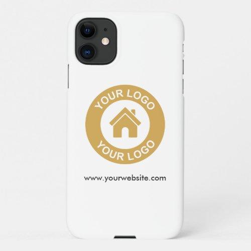 Simple Custom Business Logo Website Phone Case