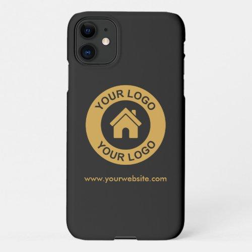 Simple Custom Business Logo Website iPhone 11 Case
