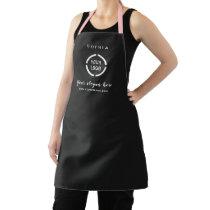 Simple Custom Company Logo personalized black Apron