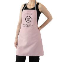 Simple Custom Company Logo personalized pink Apron