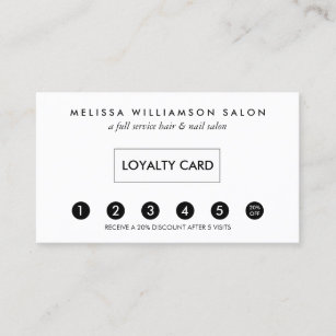 Punch business cards templates zazzle simple customer loyalty punch card colourmoves