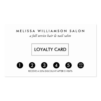 Simple Customer Loyalty Punch Card Business Card
