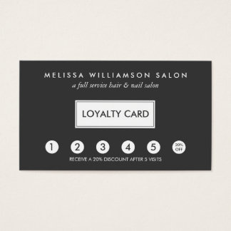 Simple Customer Loyalty Punch Card II