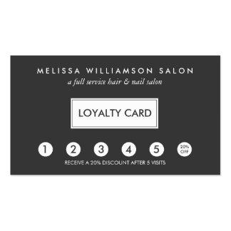 Simple Customer Loyalty Punch Card II Double-Sided Standard Business Cards (Pack Of 100)